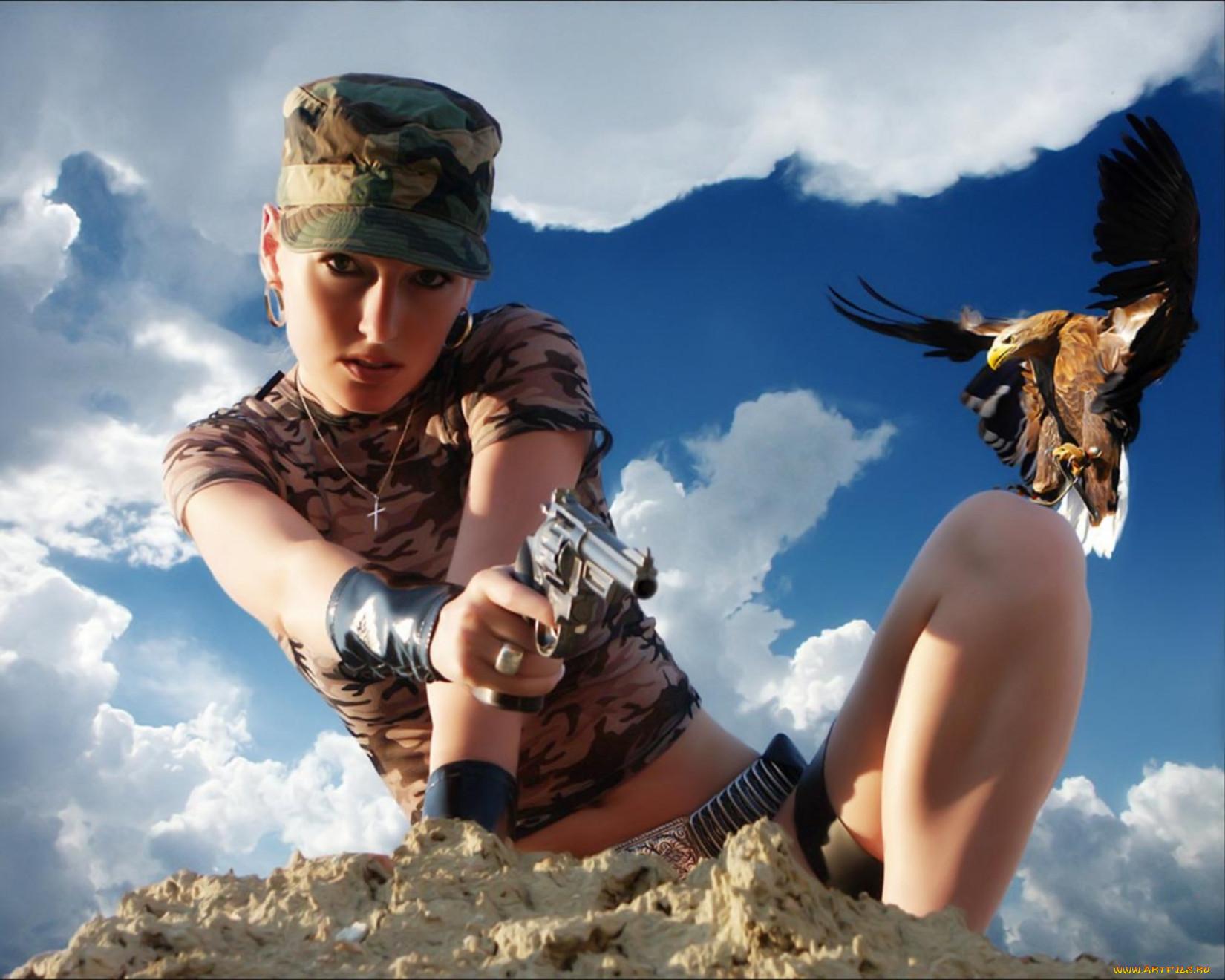 Картинки на рабочий стол девушки в военной форме